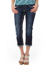 Unionbay® Harlee Dark Wash Distressed Cropped Pants