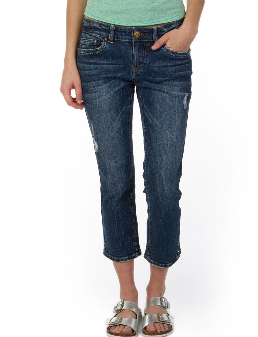 Union Bay Dark Wash Capris & Crops
