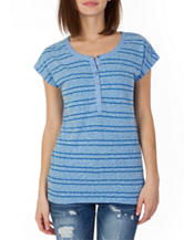 Unionbay® Shadow Striped Henley Top