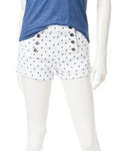 Almost Famous High Rise Pineapple Print Shorts