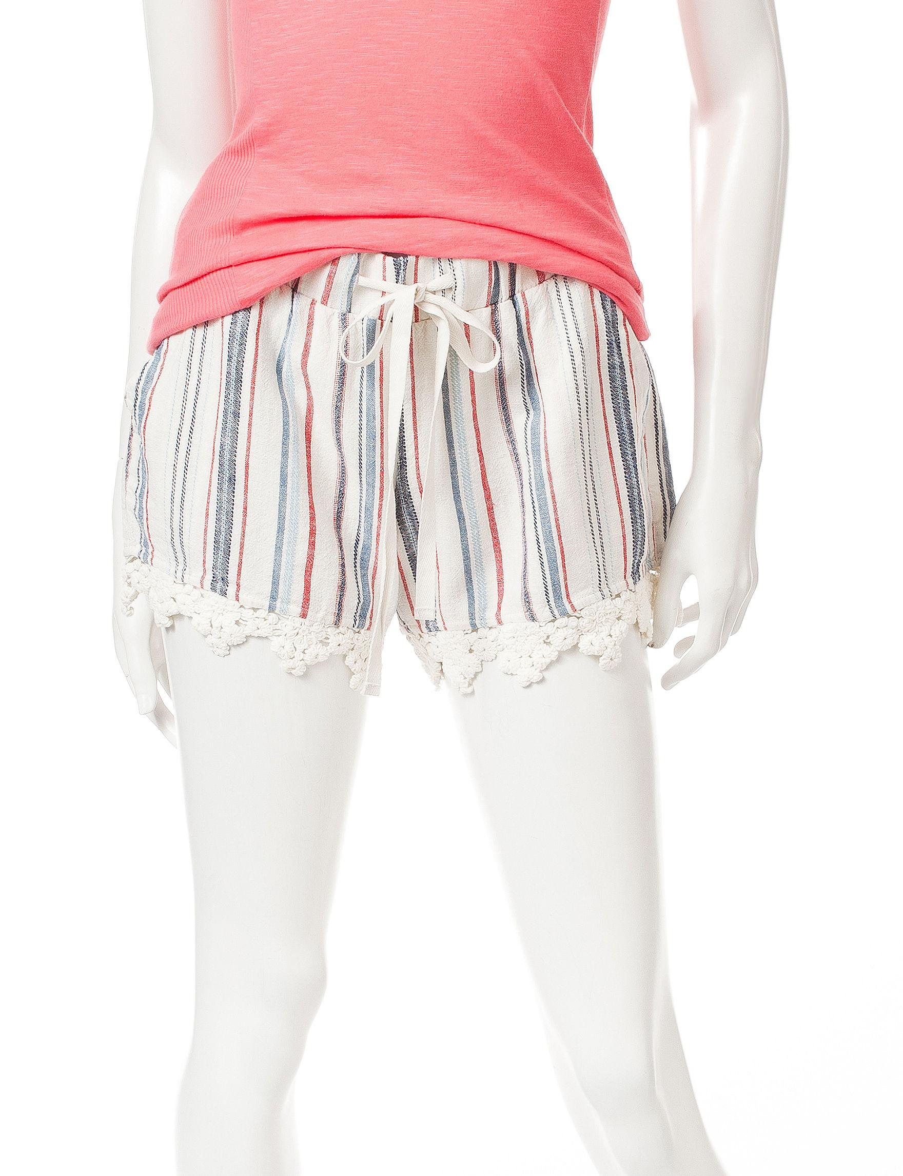 BeBop Cream / Navy Soft Shorts