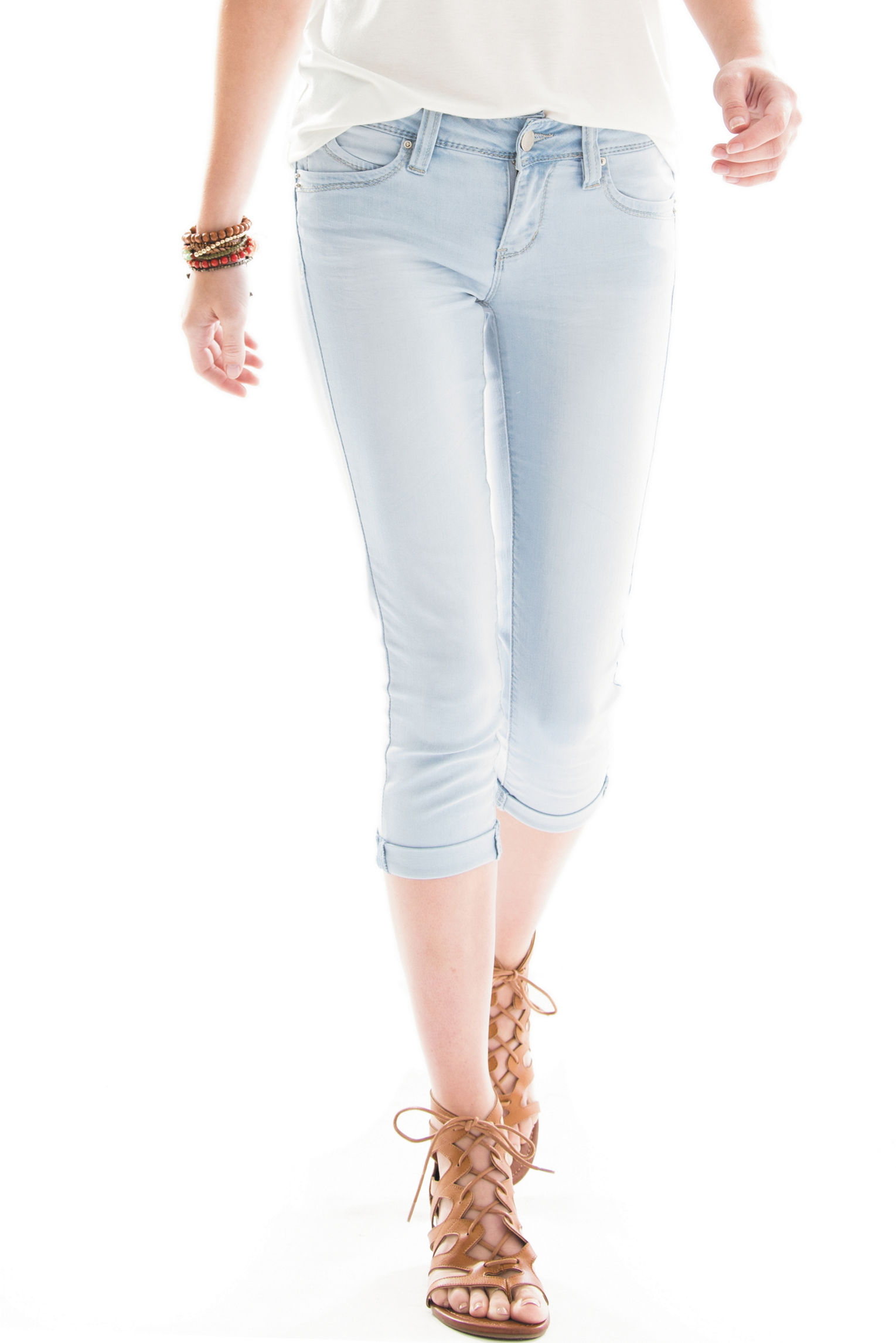 YMI Light Blue Capris & Crops