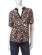 Wishful Park Raglan Cheetah Printed Top