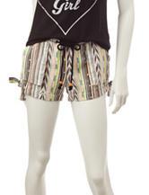 Jolt Multicolor Yarn-Dye Linen Shorts