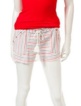 Jolt Striped Print Linen Sailor Shorts