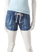 Jolt Sailor Solid Color Linen Shorts