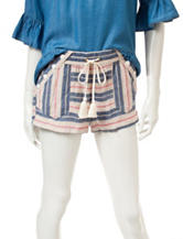 Jolt Sailor Striped Linen Shorts