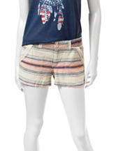 Jolt Tribal Striped Linen Shorts