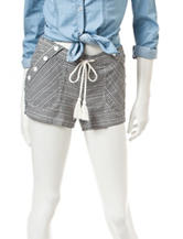 Jolt Sailor Gingham Print Shorts