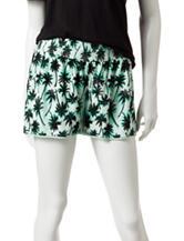 Justify Palm Tree Print Mint Shorts