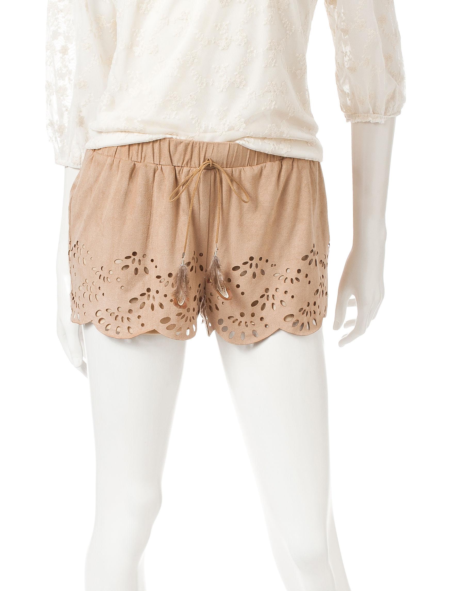 Heart Soul Tan Soft Shorts