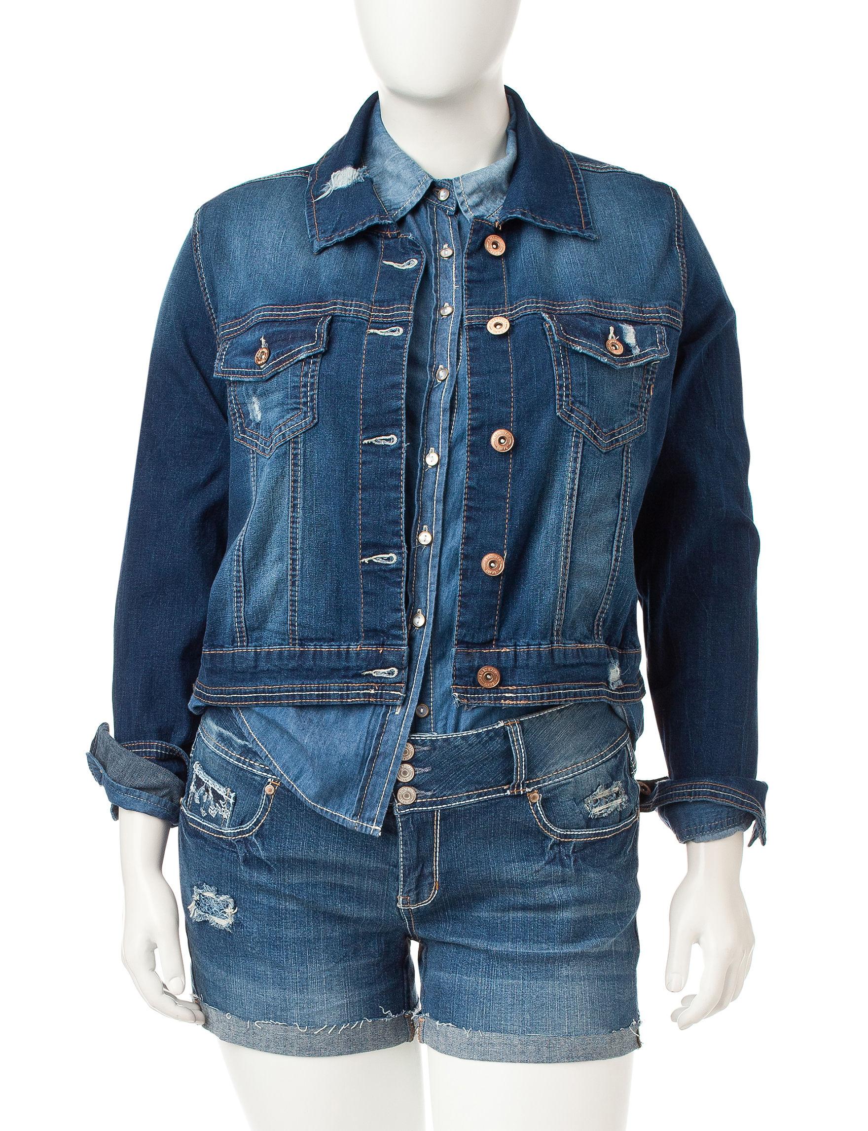 Amethyst Dark Blue - Rinse Denim Jackets
