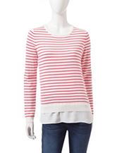 U.S. Polo Assn. Layered-Look Striped Sweater