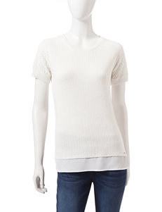 U.S. Polo Assn. White Pull-overs