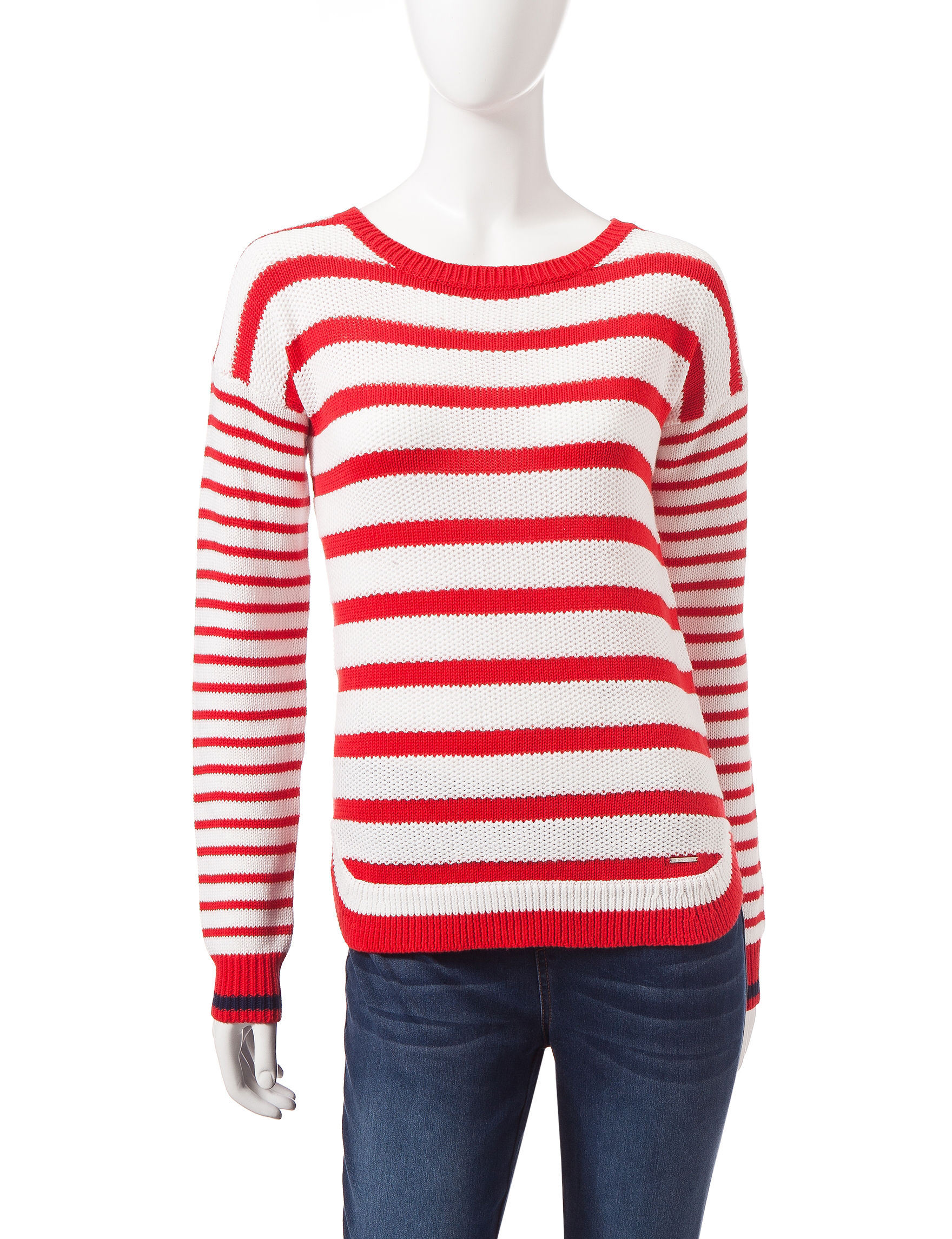 U.S. Polo Assn. Red / White Pull-overs Sweaters