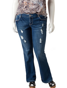 Amethyst Jeans Juniors-Plus Destructed Bootcut Jeans