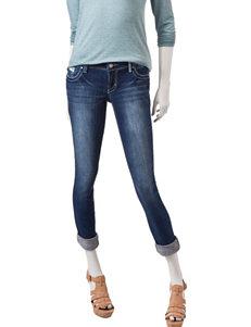 Amethyst Dark Wash Sequin Embellished Skinny Jeans
