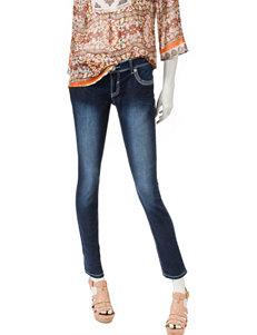 Amethyst Dark Wash Super Skinny Embellished Jeans