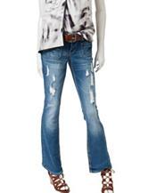 Amethyst Medium Wash Belted Bootcut Jeans