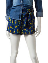 Justify Navy & Yellow Pineapple Print Shorts