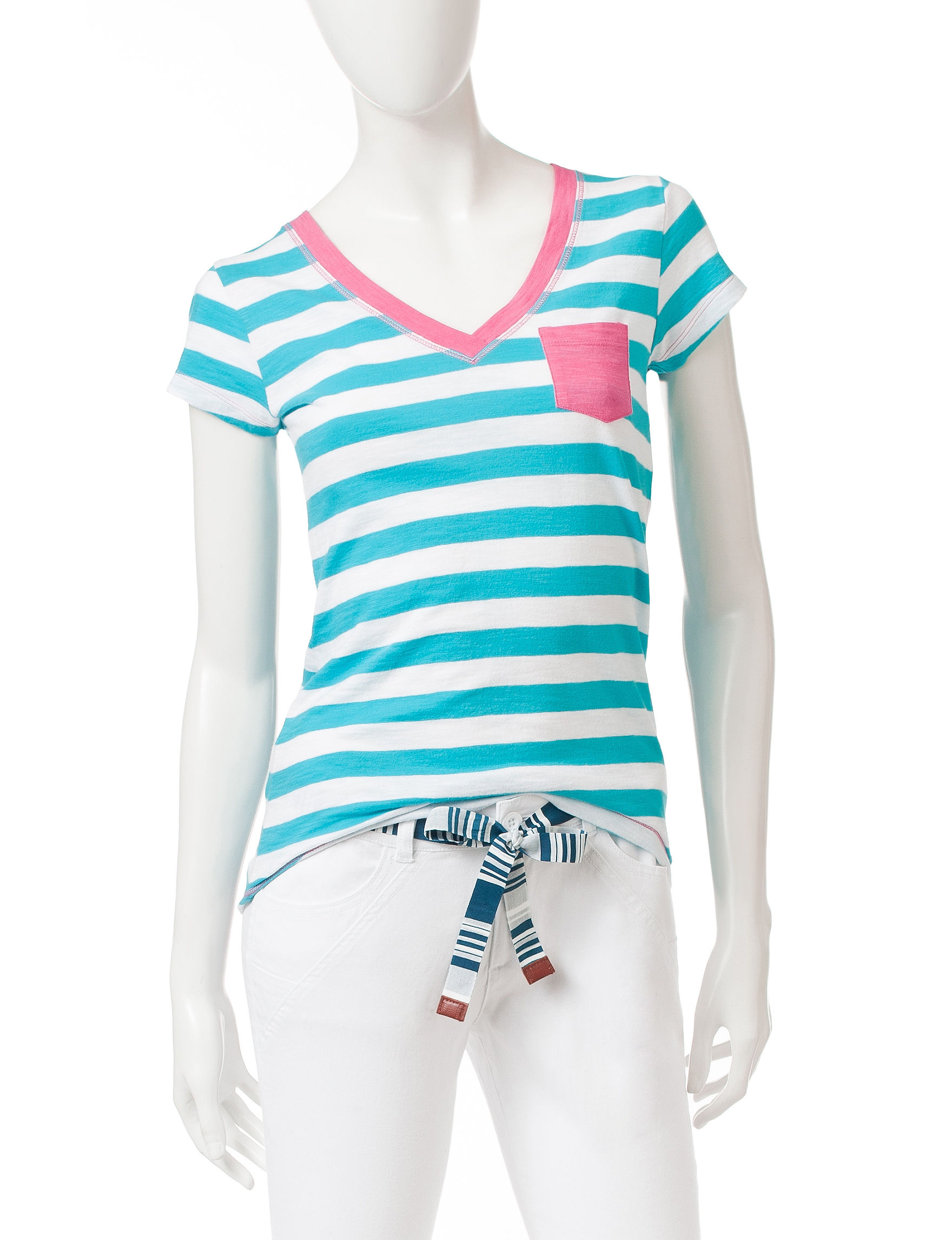 Wishful Park Blue Stripe Tees & Tanks