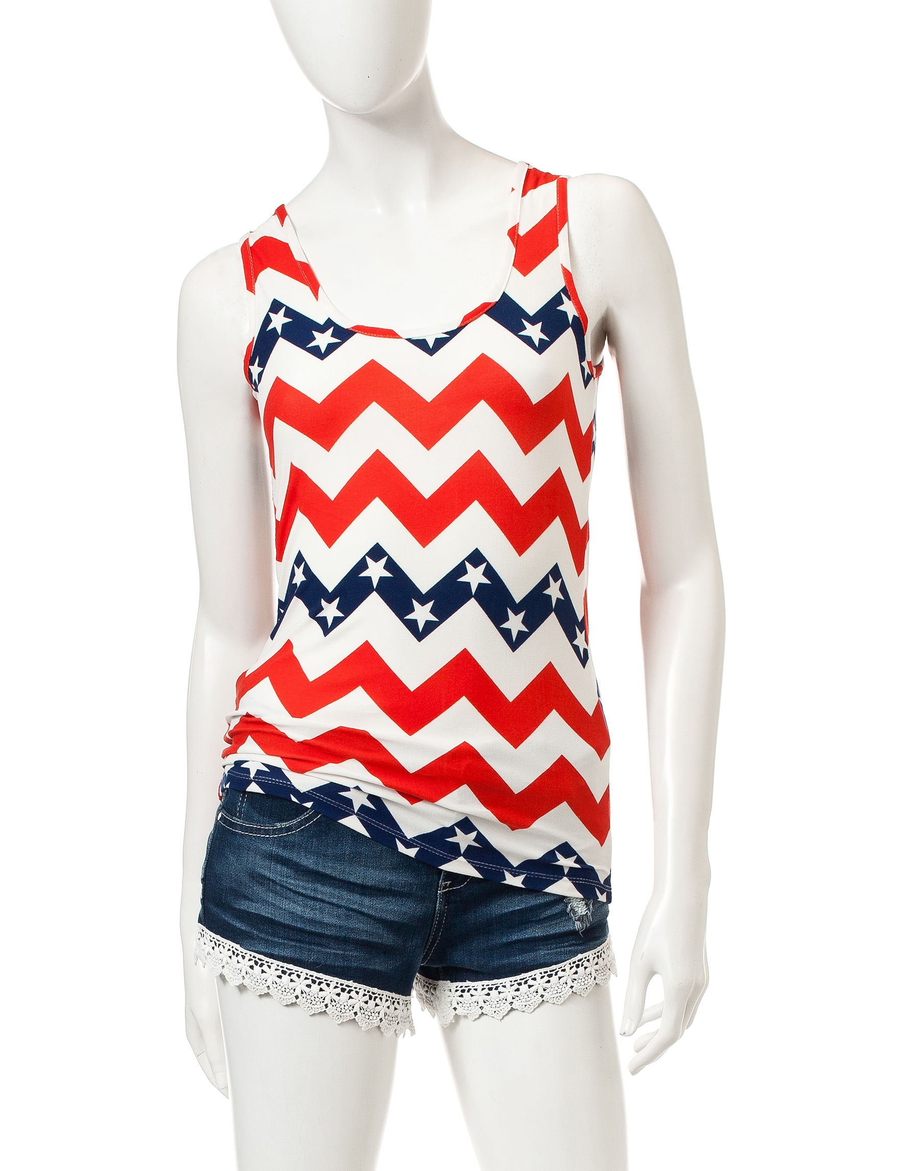 Wishful Park Red Combo Camisoles & Tanks