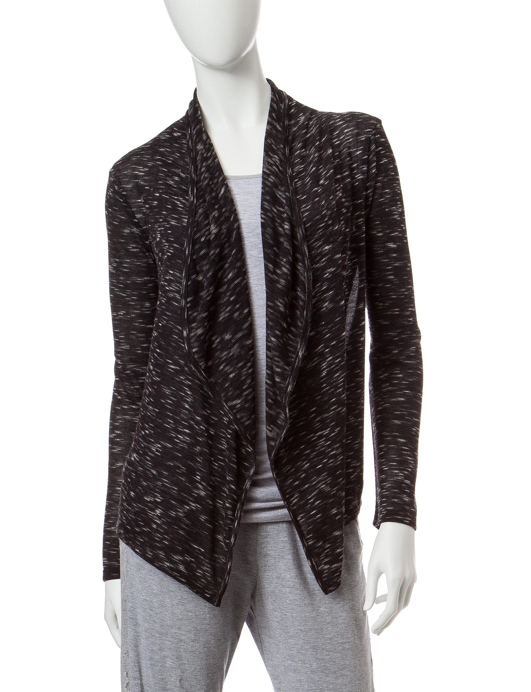 Inspired Hearts Black Lightweight Jackets & Blazers