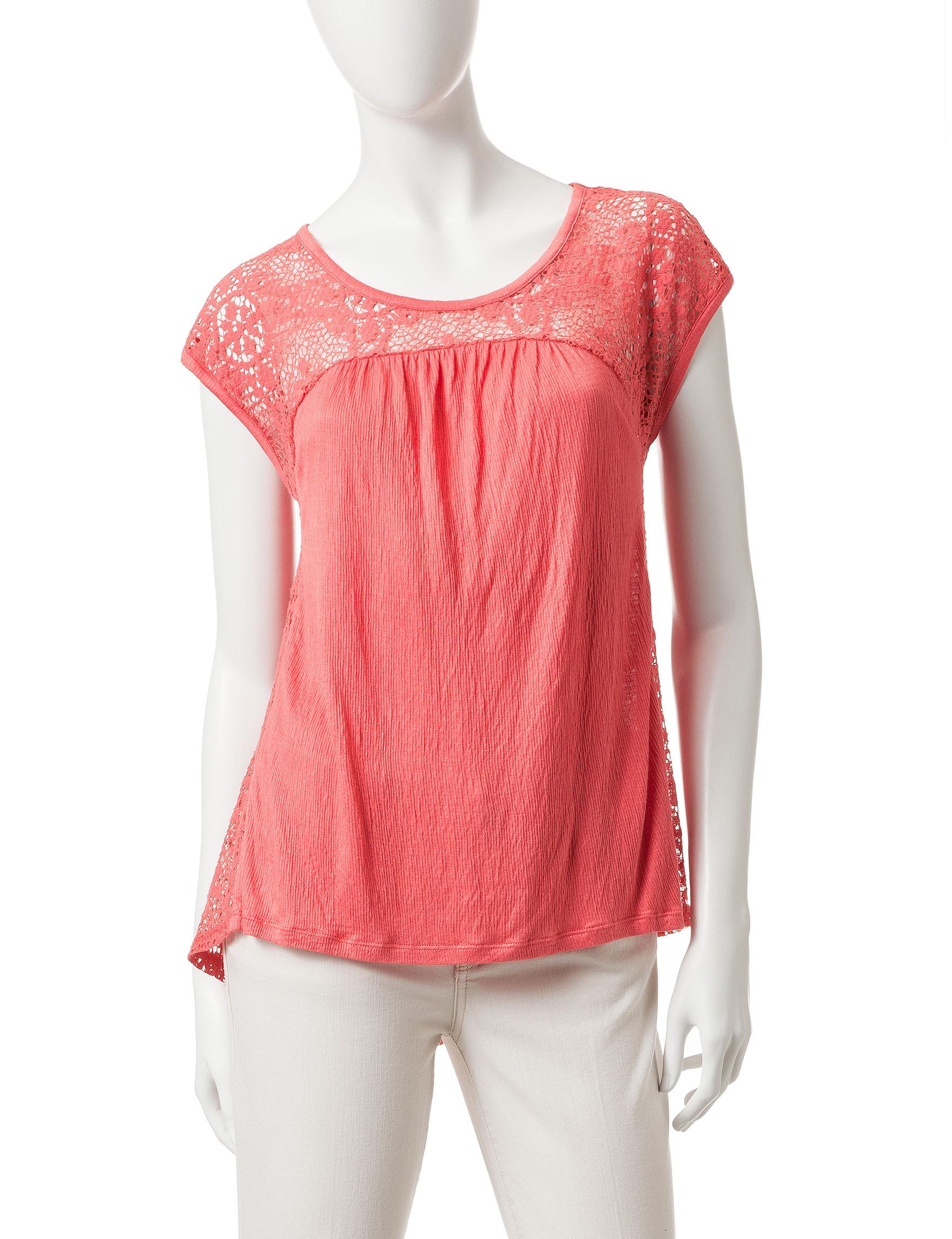 Eyeshadow Coral Shirts & Blouses