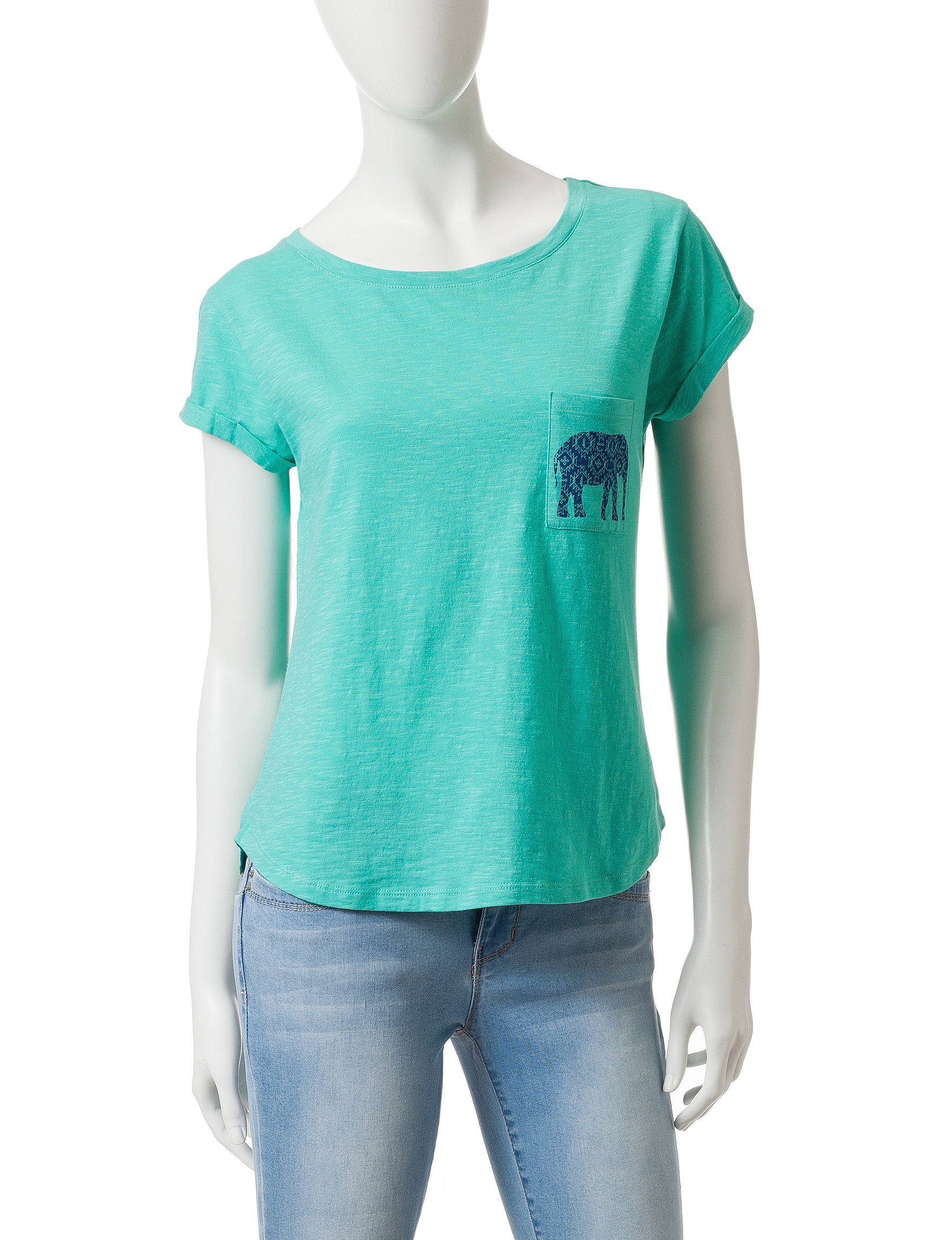 Wishful Park Turquoise Tees & Tanks