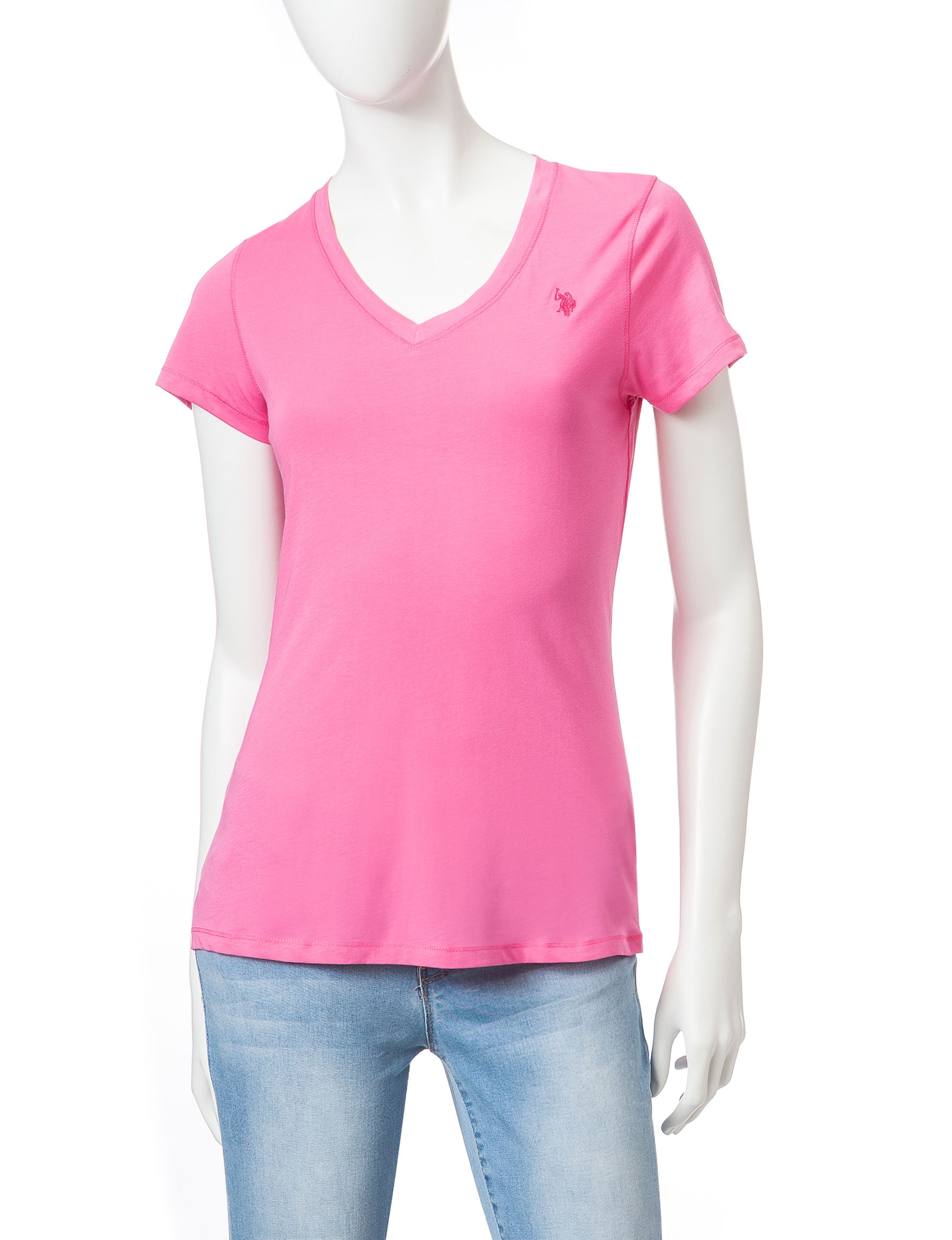 U.S. Polo Assn. Bright Pink Tees & Tanks