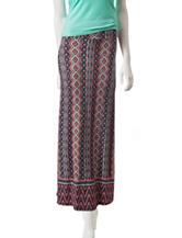 Justify Fold Waist Abstract Print Maxi Skirt