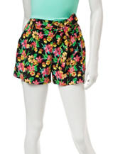 Justify Mullticolor Tropical Print Shorts