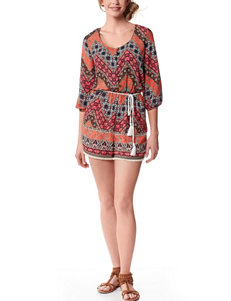 My Michelle Multicolor Chevron Print Romper