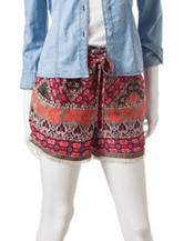My Michelle Multicolor Abstract Print Shorts