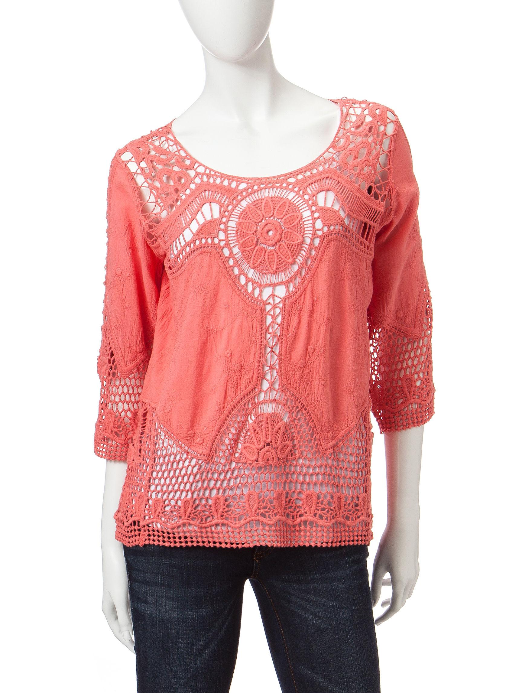 Taylor & Sage Coral Shirts & Blouses