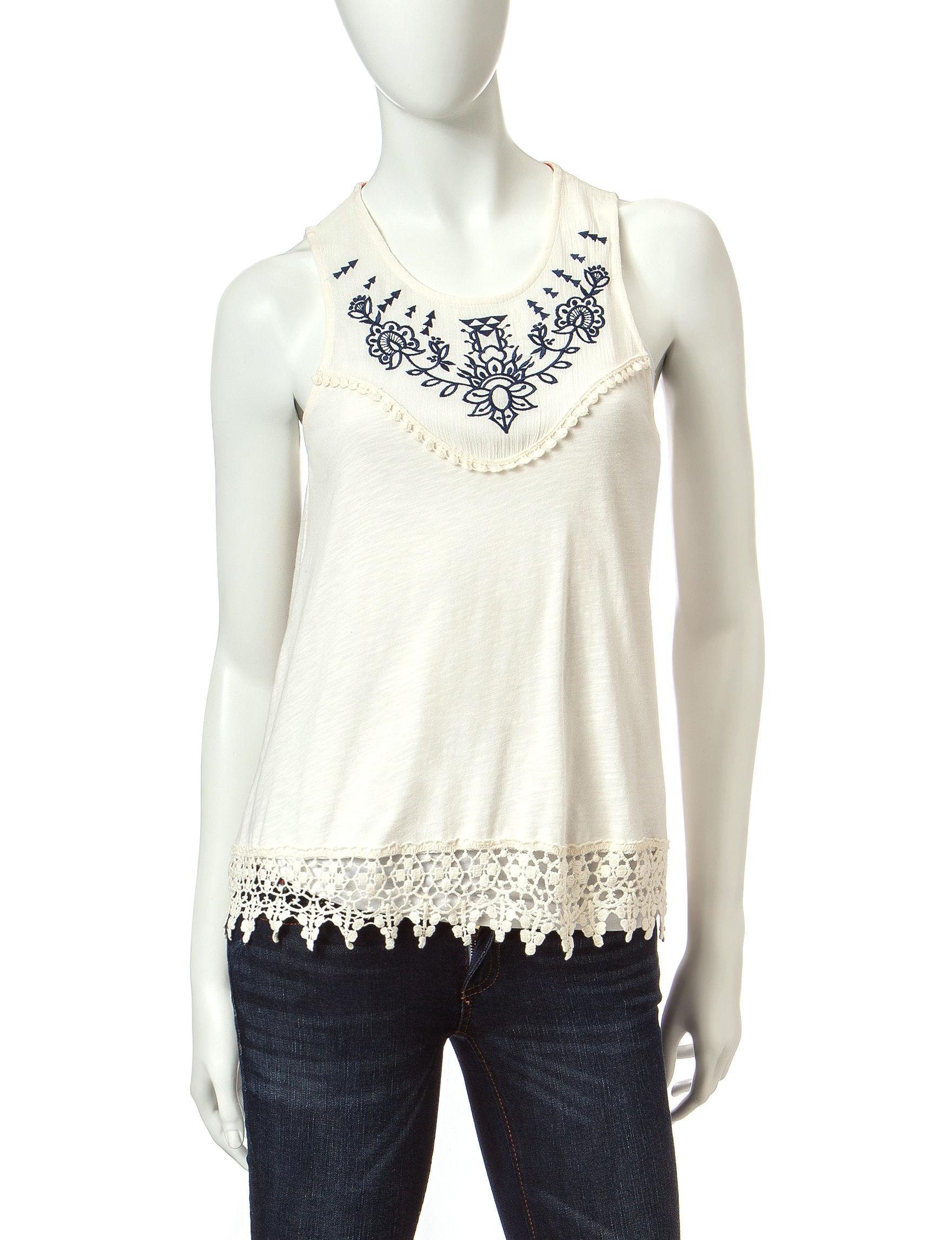 Taylor & Sage Ivory Shirts & Blouses