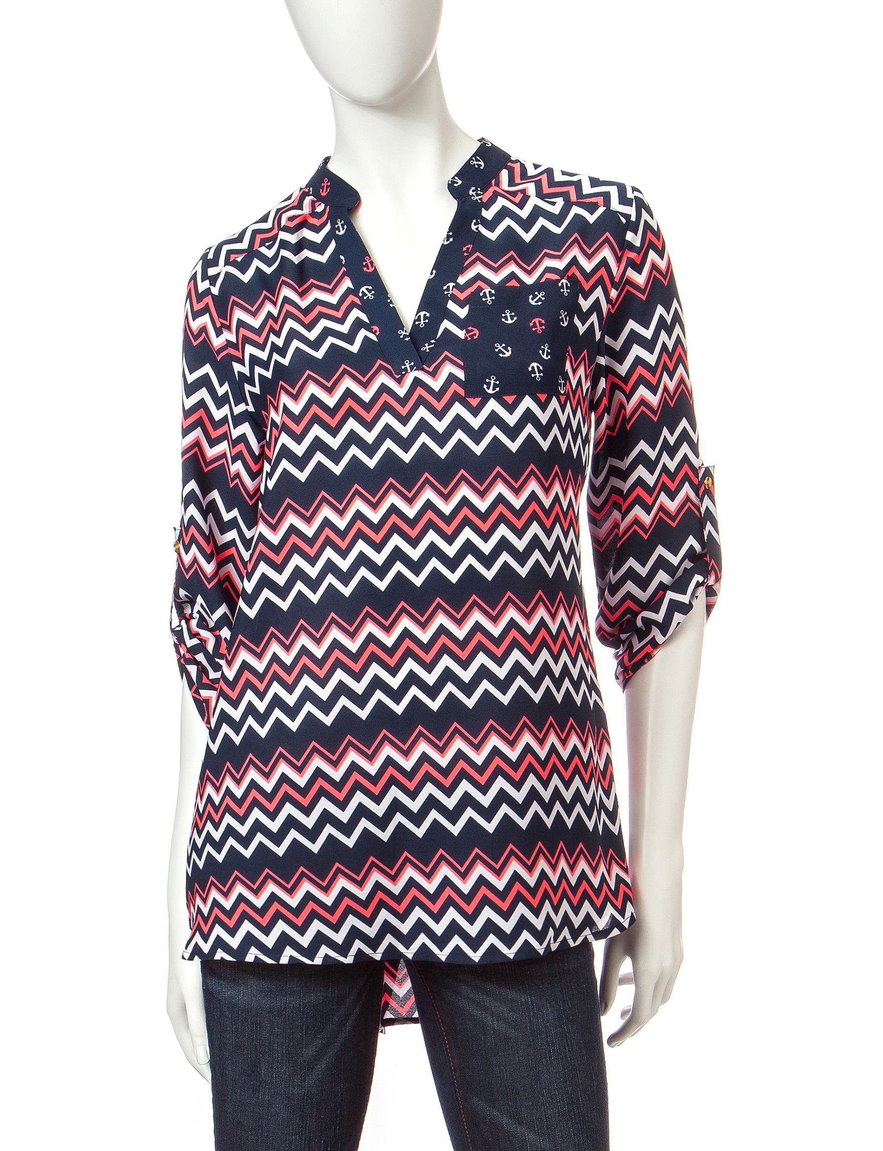 Wishful Park Black/Coral Shirts & Blouses