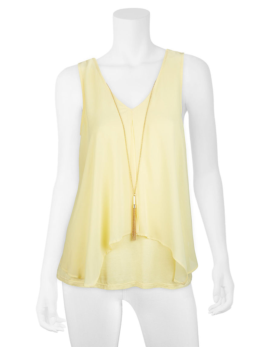 A. Byer Yellow Tees & Tanks