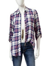 Heart Soul 2-pc. Multicolor Plaid Print Top Set