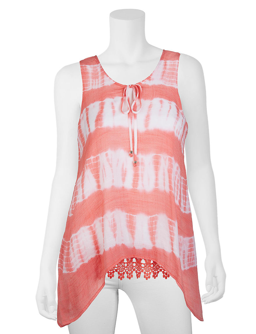 A. Byer Coral Tees & Tanks