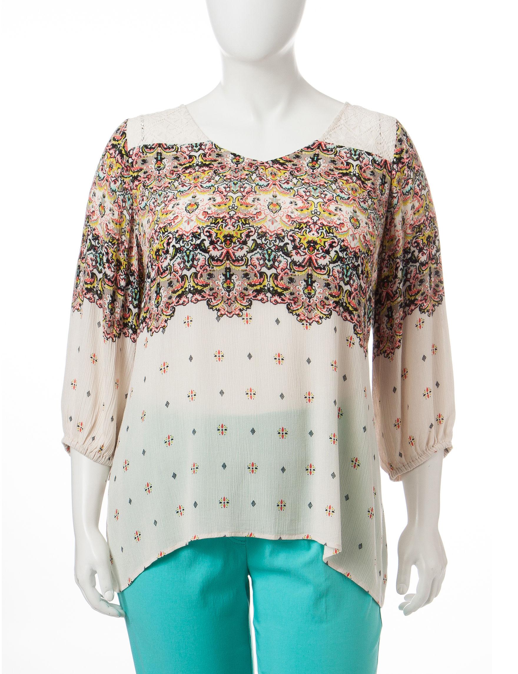Eyeshadow Beige / Pink Shirts & Blouses