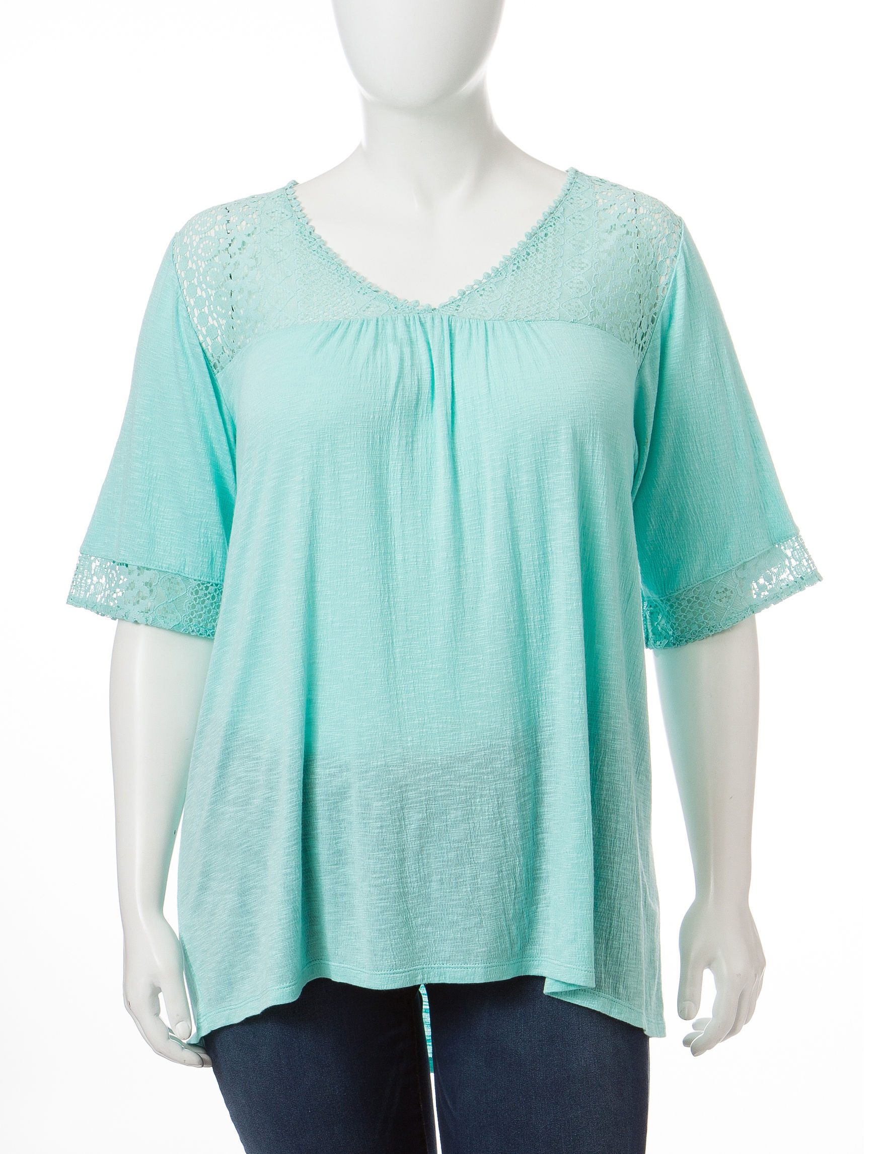 Eyeshadow Turquoise Shirts & Blouses