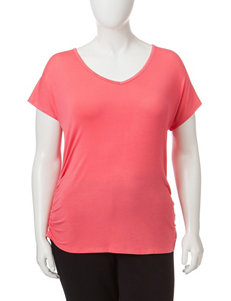 Wishful Park Juniors-Plus Solid Color Side Cinched Top