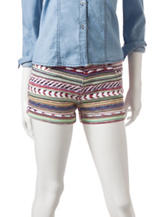 Celebrity Pink Multicolor Tribal Print Shorts