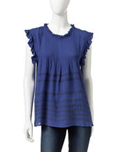 Romeo + Juliet Couture Ruffle Trimmed Top