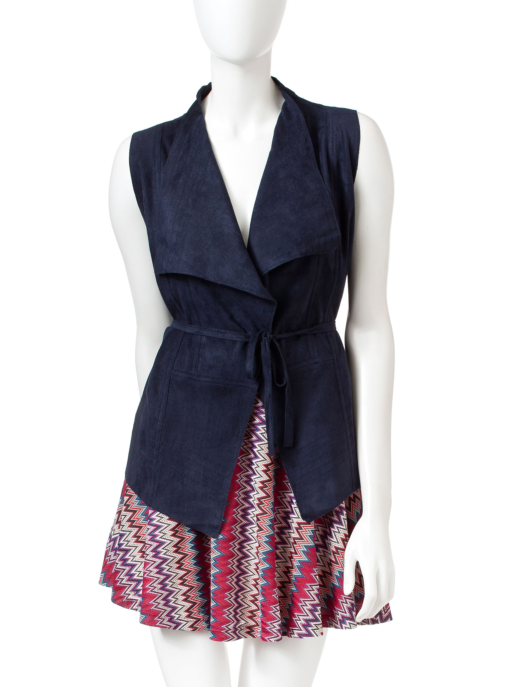 Romeo + Juliet Couture Navy Vests
