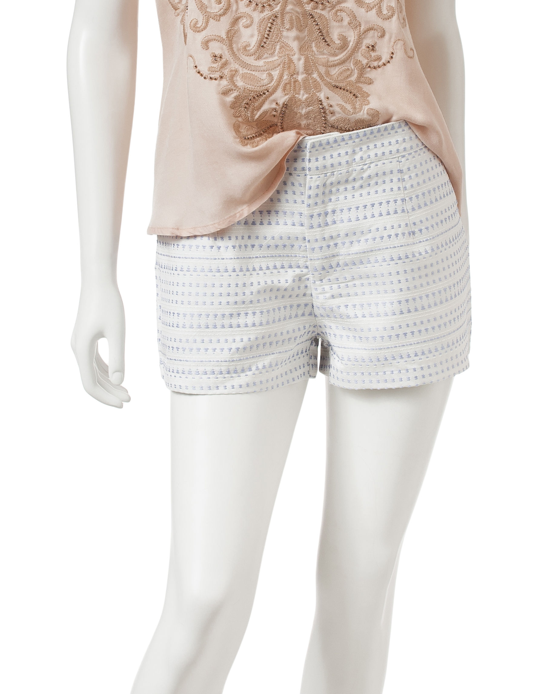 Romeo + Juliet Couture White / Silver Soft Shorts