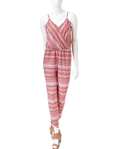 Romeo + Juliet Couture Zig Zag Knit Jumpsuit