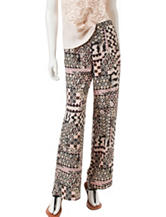 Romeo + Juliet Couture Abstract Print Wide Leg Pants