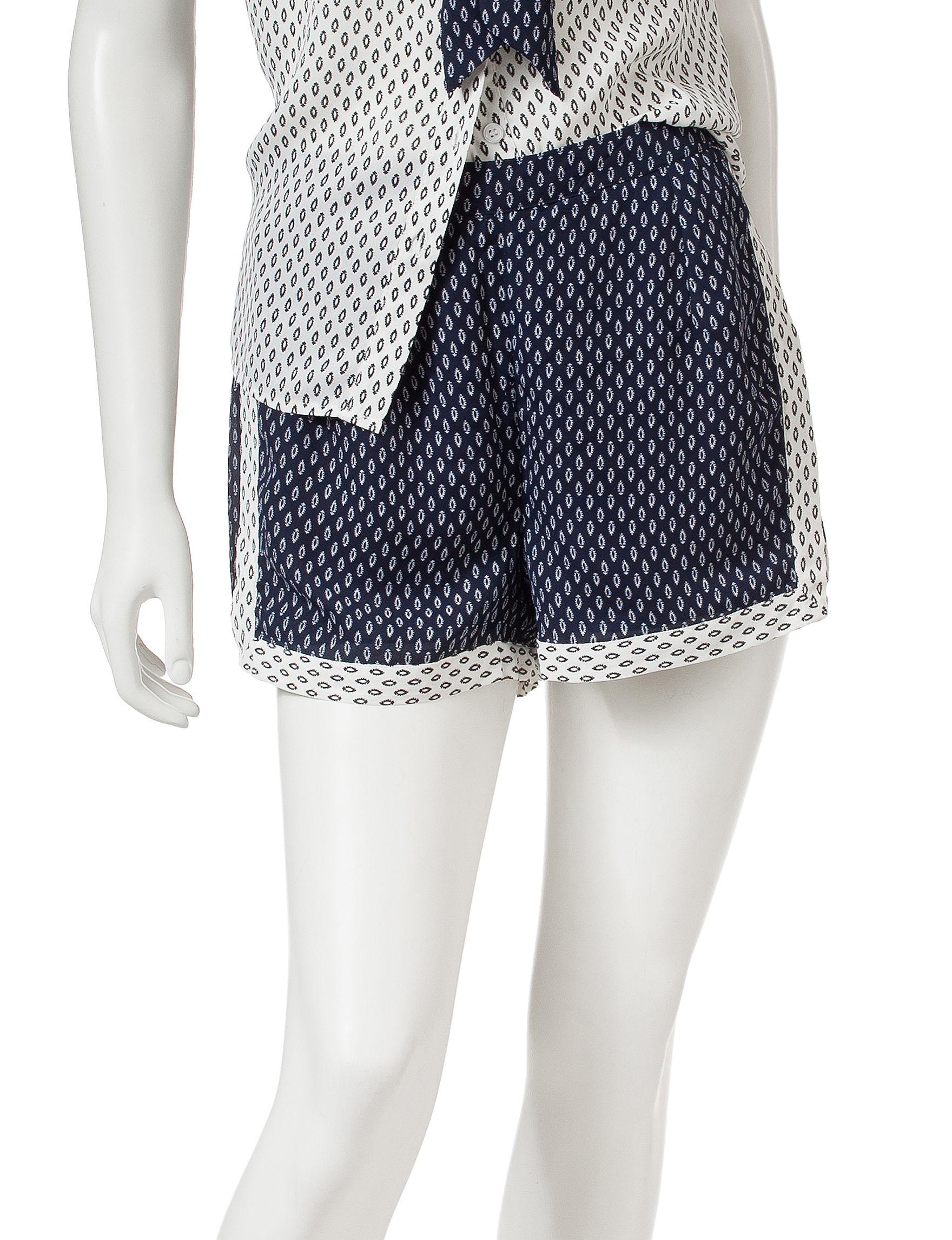 Romeo + Juliet Couture Blue / White Soft Shorts